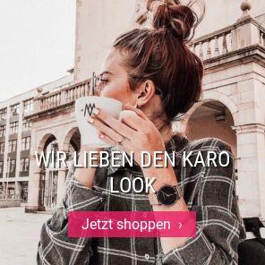 Wir lieben den Karo Look