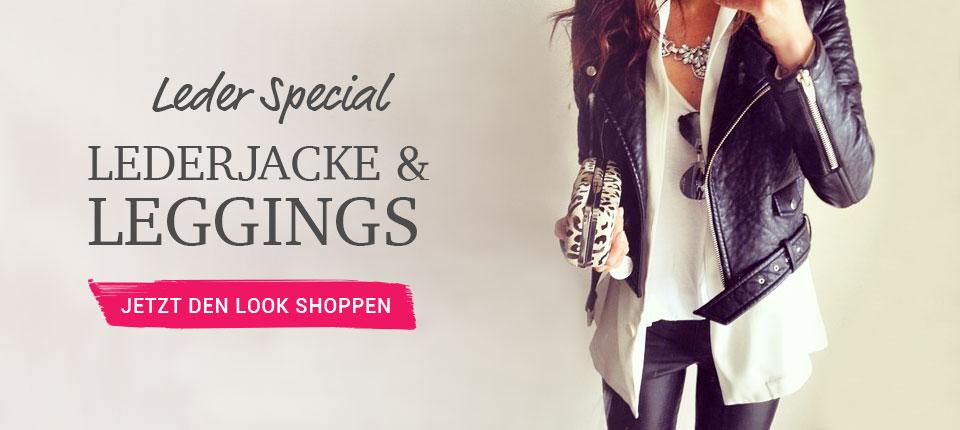 Leder Special - Shop the Look: Lederjacke & Leggings